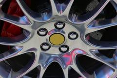 Sportcar wheel. Original photo from maranello modena italy Royalty Free Stock Image