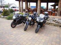 Sportcykel för tre motorcyklar Royaltyfria Bilder
