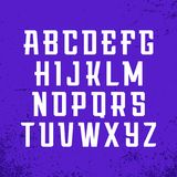 Sportdoopvont Vectoralfabet met Latijnse brieven Royalty-vrije Stock Foto