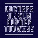 Sportdoopvont Vectoralfabet met Latijnse brieven Stock Fotografie