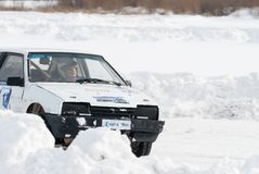 Sporteiswettbewerbe auf Autos Stockfotografie