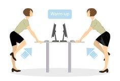 Sporten övar för kontor vektor illustrationer