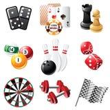 Sporten en vrije tijdspictogrammen Stock Foto's