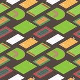Sporten fields den seamless modellen Royaltyfri Fotografi