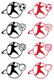 Sporten geïllustreerded pictogrammen Royalty-vrije Stock Foto's