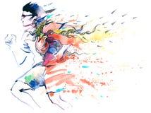 Sporten het lopen Royalty-vrije Stock Foto