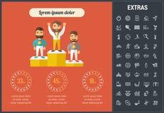Sporten infographic malplaatje, elementen en pictogrammen Stock Fotografie