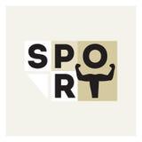 Sporten logotype, atleet van brieven Royalty-vrije Stock Afbeelding