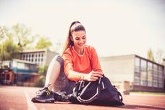 Sporten och övningen gör mig lycklig 15 woman young Arkivbilder