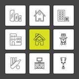 Sporten, spelen, atheletes, eps pictogrammen geplaatst vector royalty-vrije illustratie