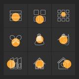 Sporten, spelen, atheletes, eps pictogrammen geplaatst vector stock illustratie