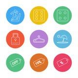 sporten, spelen, de zomer, strand, eps pictogrammen geplaatst vector royalty-vrije illustratie
