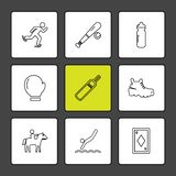 sporten, spelen, de zomer, strand, eps pictogrammen geplaatst vector vector illustratie