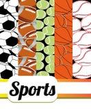 Sportenachtergrond stock illustratie