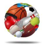 Sportenbal Royalty-vrije Stock Afbeeldingen