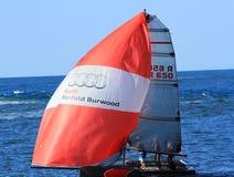 Sportenboot het varen Stock Fotografie