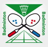 Sportencompetities in badminton royalty-vrije illustratie