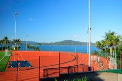 Sportenhof in de hete zomer Royalty-vrije Stock Foto's
