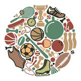 Sportenpictogrammen Stock Foto's
