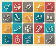 Sportenpictogrammen Stock Afbeelding