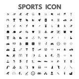Sportenpictogrammen geplaatst verbazende vectorillustratietrofee, gokken, het zwemmen, het lopen, medaille, kegelen, gymnastiek,  stock illustratie
