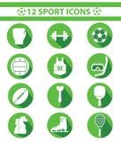 Sportenpictogrammen, Groene versie Royalty-vrije Stock Foto