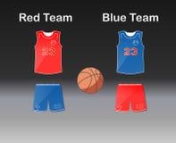 Sportenreeks Eenvormig teambasketbal: borrels en Jersey Royalty-vrije Stock Foto's
