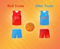 Sportenreeks Eenvormig teambasketbal catoon: borrels en Jersey stock illustratie