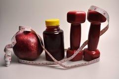 Sportenreeks van vruchten, vers en domoor stock foto's