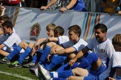 Sportenvakantie op Rood Vierkant, toegewijd aan Dag van bescherming van het kind. royalty-vrije stock fotografie