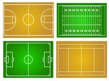 Sportfält Arkivbilder