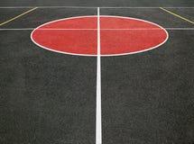 Sportfält med vita linjer Royaltyfri Fotografi