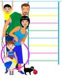 Sportfamilie Stockbild
