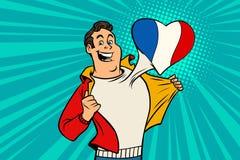 Sportfanen älskar Frankrike Arkivfoton