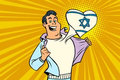 Sportfanen älskar Israel Royaltyfri Fotografi