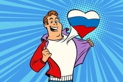 Sportfanen älskar Ryssland Arkivbilder