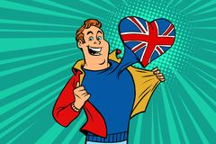 Sportfanen älskar UK Royaltyfri Fotografi