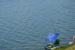 Sportfischen des Sees Modrac Lizenzfreie Stockbilder