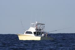 sportfishing的小船 免版税图库摄影