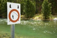sportfiskareförbudtecken royaltyfria bilder