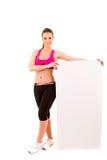 Sportfitness de lege raad van de vrouwengreep Stock Foto's