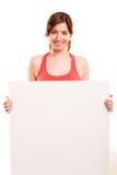 Sportfitness de lege raad van de vrouwengreep Stock Fotografie