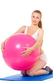 Sportfitness vrouw Royalty-vrije Stock Afbeelding