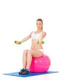 Sportfitness vrouw Stock Foto