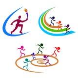 Sportfolk stock illustrationer
