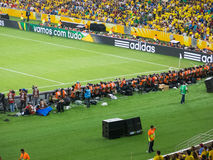 Sportfotografen bij Maracana-Stadion - Brazilië royalty-vrije stock foto's
