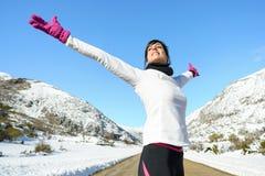 Sportfrauen-Freiheitserfolg Lizenzfreies Stockbild