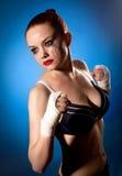Sportfrauen-Studioschuß Lizenzfreie Stockfotografie