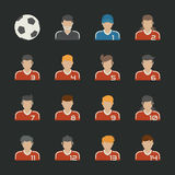 Sportfußballikonen eingestellt Stockfotos