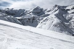 Austria ski run Royalty Free Stock Photos
